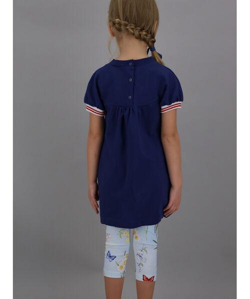 Jersey leggings with botanical print