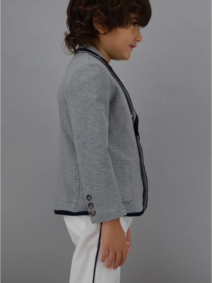 Poplin blazer with edging
