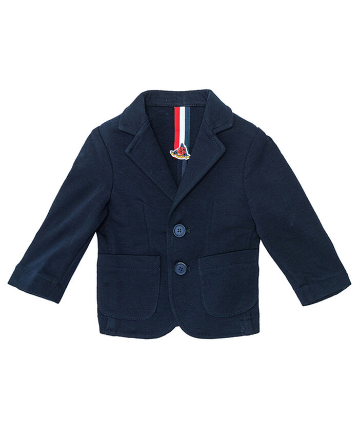 Sweatshirt fabric jacket for little boys