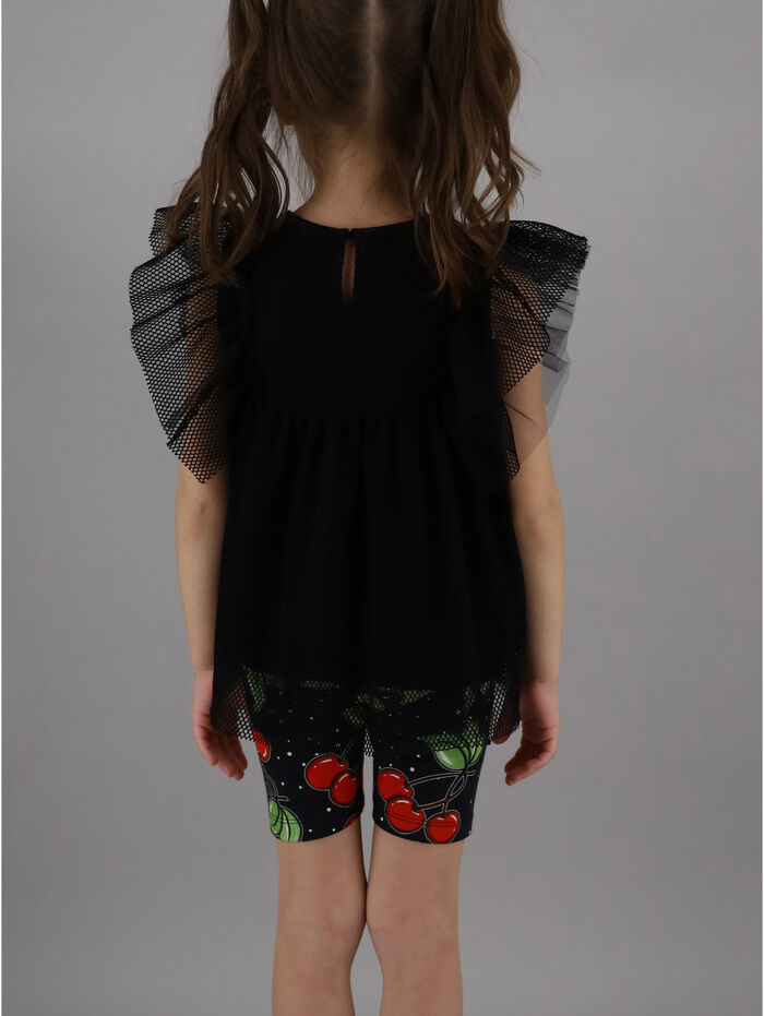 Tulle T-shirt with sequins