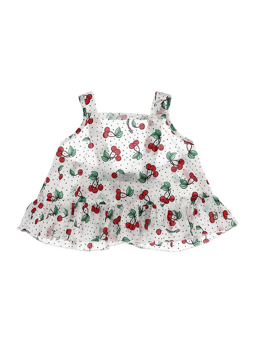 Top w/cherries and dots