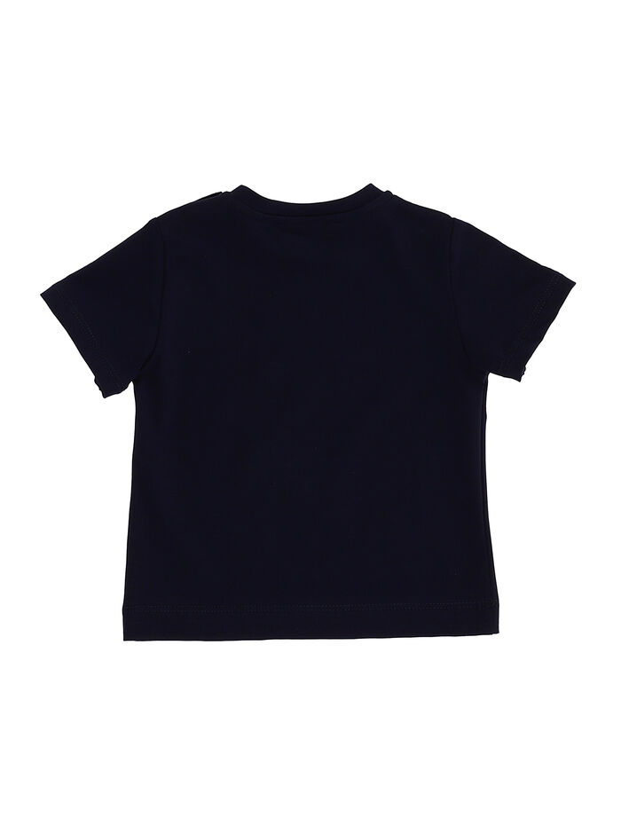 Jersey t-shirt with block color