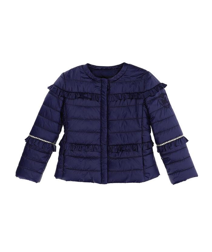 Super-soft jacket with rhinestones