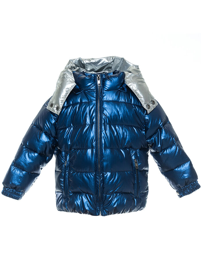 Metallic quilted jacket