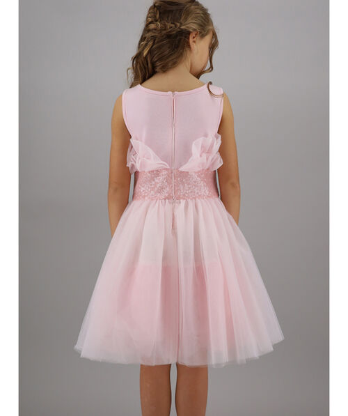 Sequined tulle dress