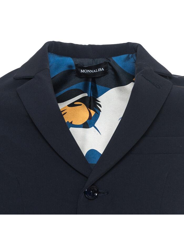 Пиджак для мальчика из габардина