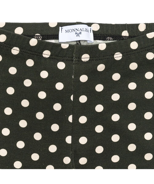 Polka dot jersey leggings