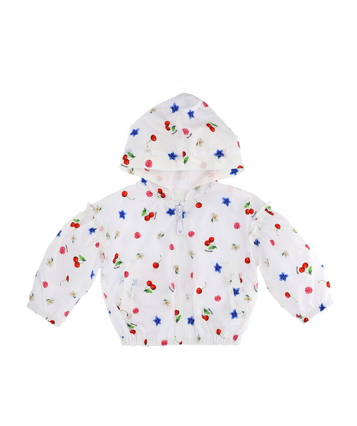 Fruit and flower print windproof jacket