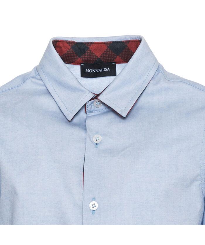Camisa Oxford intercalados