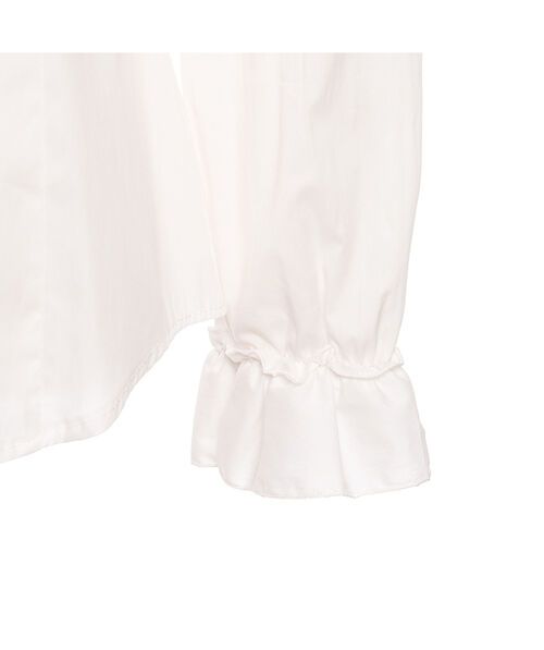 Poplin blouse with jabot