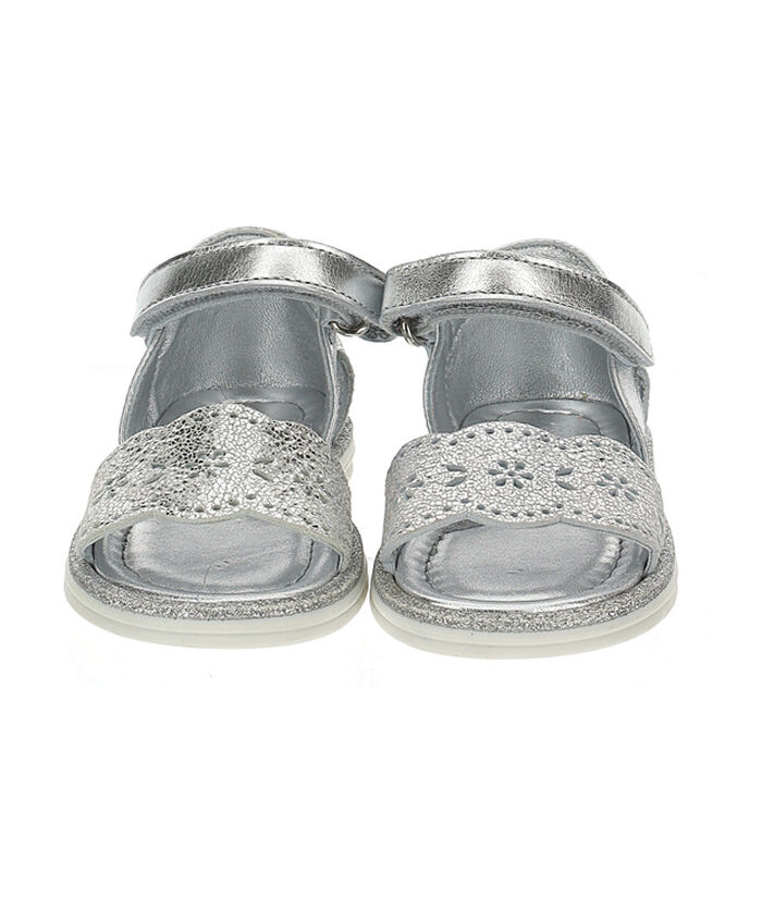 Girls lace and glitter sandals