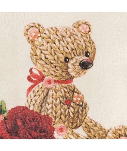 Elegant romper with a teddy bear
