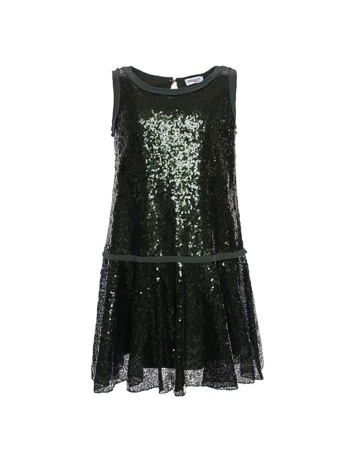 Pinafore dress with sequins