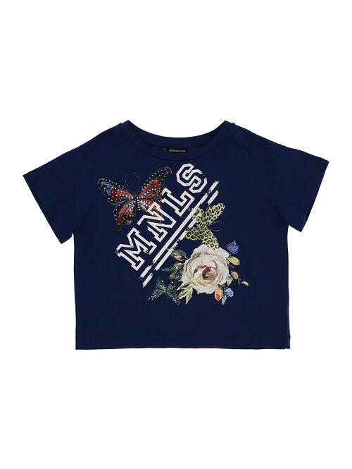 Printed jerset t-shirt