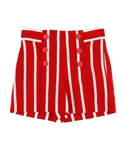 Striped viscose shorts