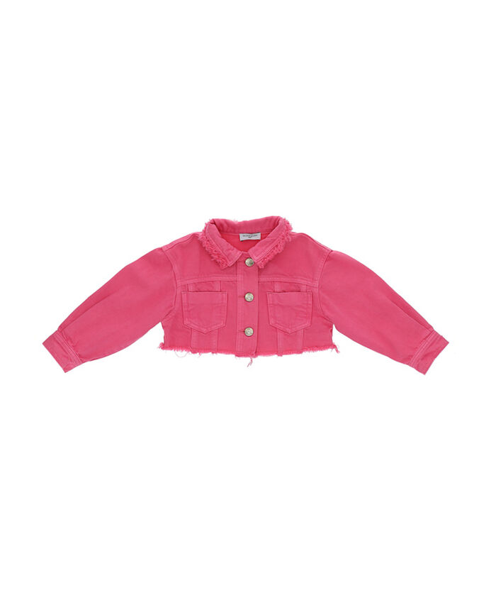 Jacket with rhinestones