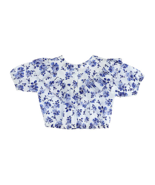 Majolica effect print top