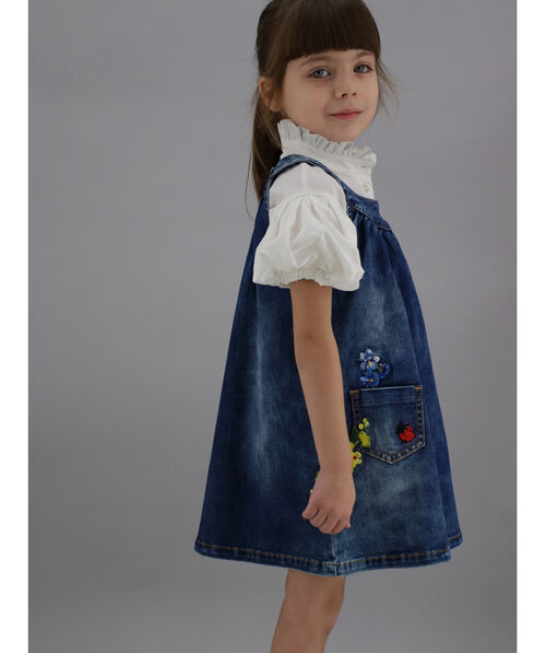 Washed denim dress