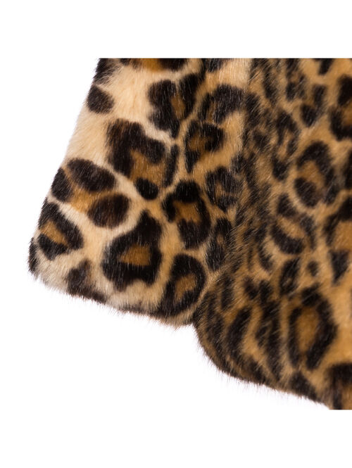 Ocelot fake fur girl coat