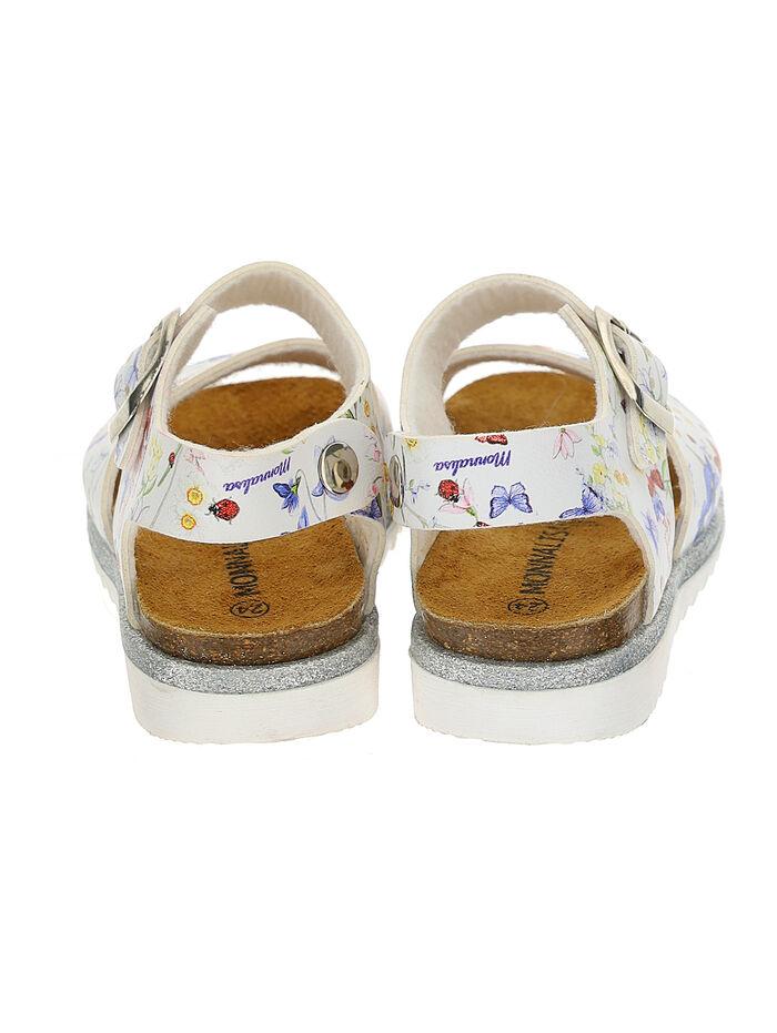 Butterfly print girl sandals