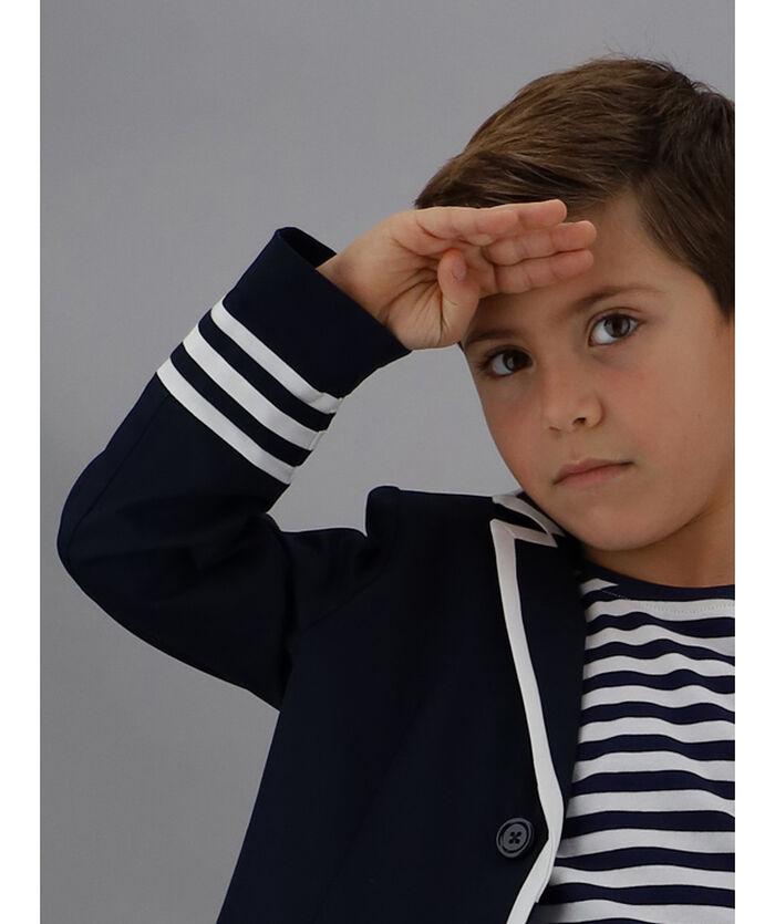 Gabardine sailor jacket