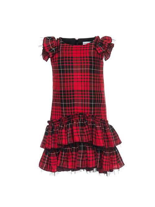 Tulle tartan dress