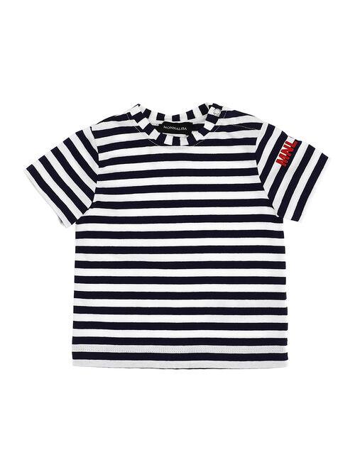 Jersey t-shirt with stripes