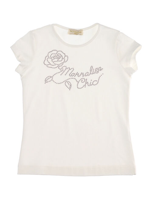 T-shirt with studded rose