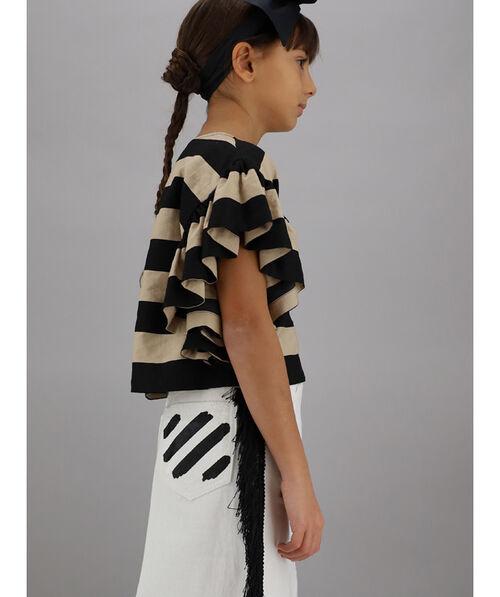 Striped viscose top