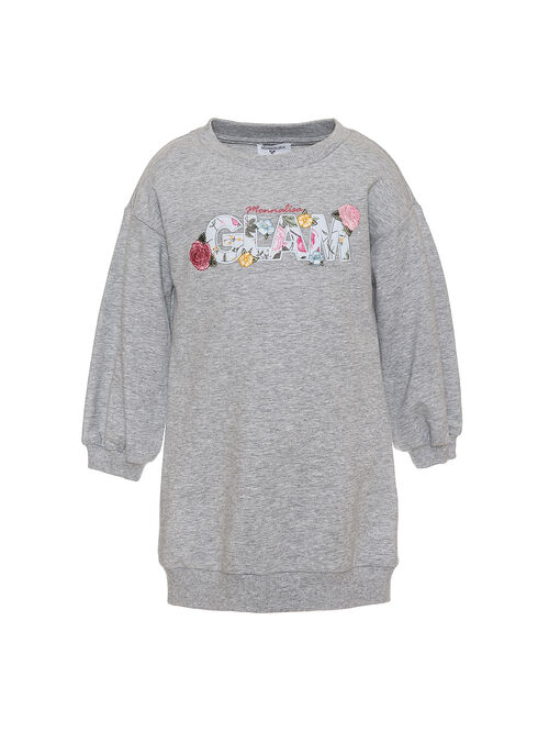 Sweatshirt dress w/embroidery