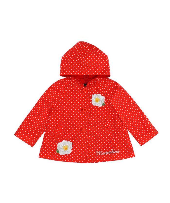 Waterproof jacket for girls, polka dots