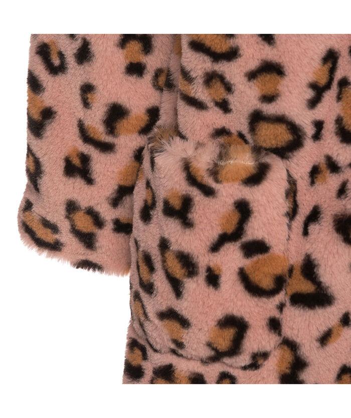 Spotted faux fur coat