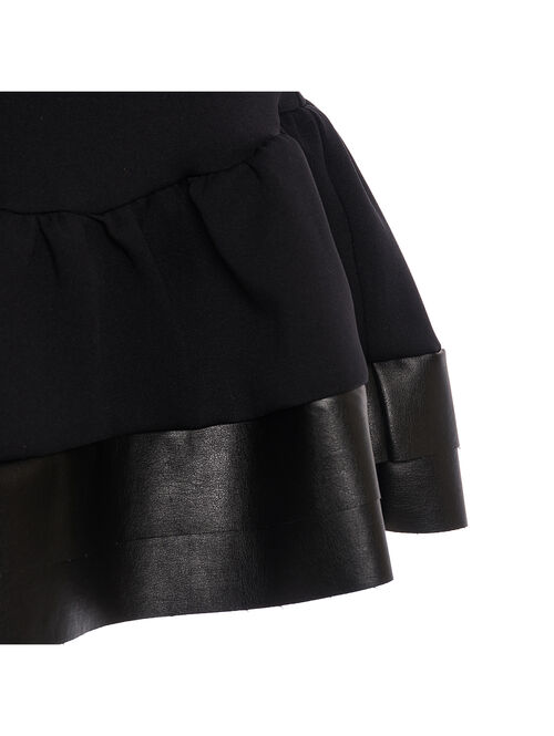 Jersey top with eco-leather details