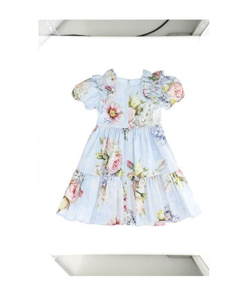 Poplin dress with flounces