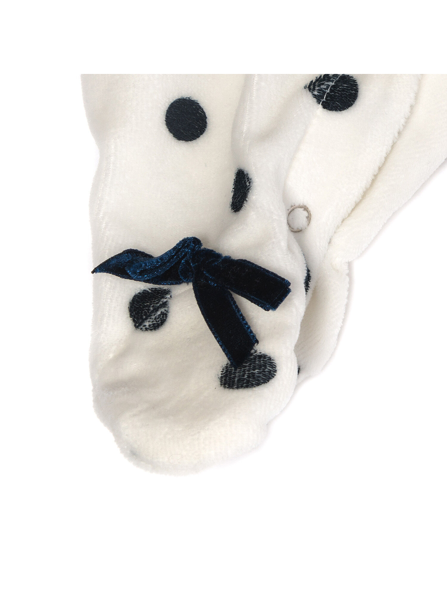 Powder Blue//White Moisturizing Adorable Polka Dot PLUSH CHENILLE SOCKS