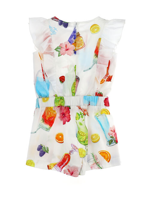 Jumpsuit with printed shorts