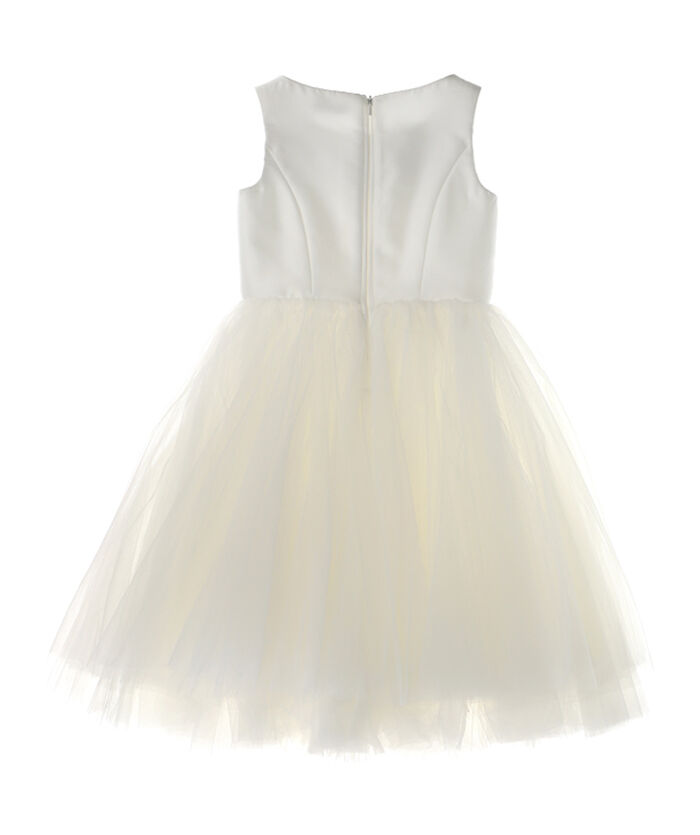 Rhinestones dress, on mikado and tulle