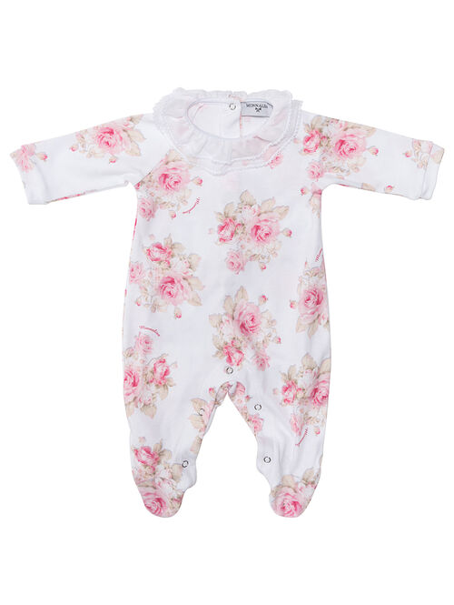 Chenille onesie with flowers