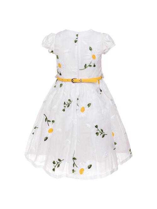 Платье из муслина с вышивкой