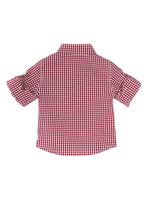 Рубашка в мелкую клетку