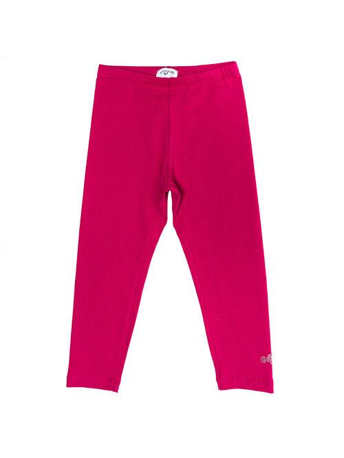 Jersey leggings with rhinestones