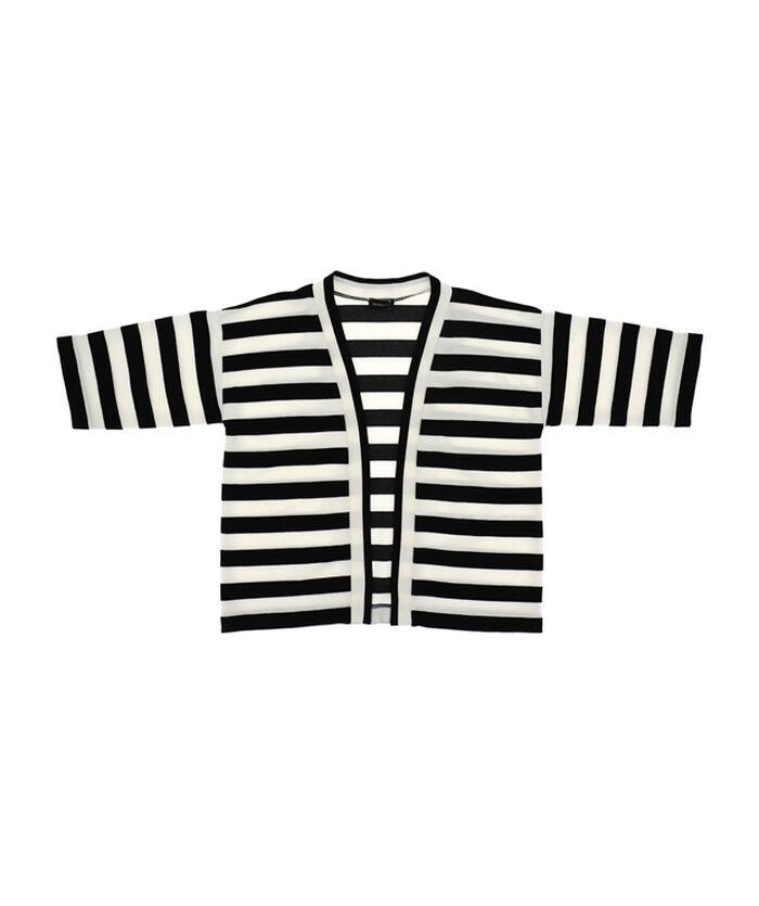 Striped Milano stitch cardigan