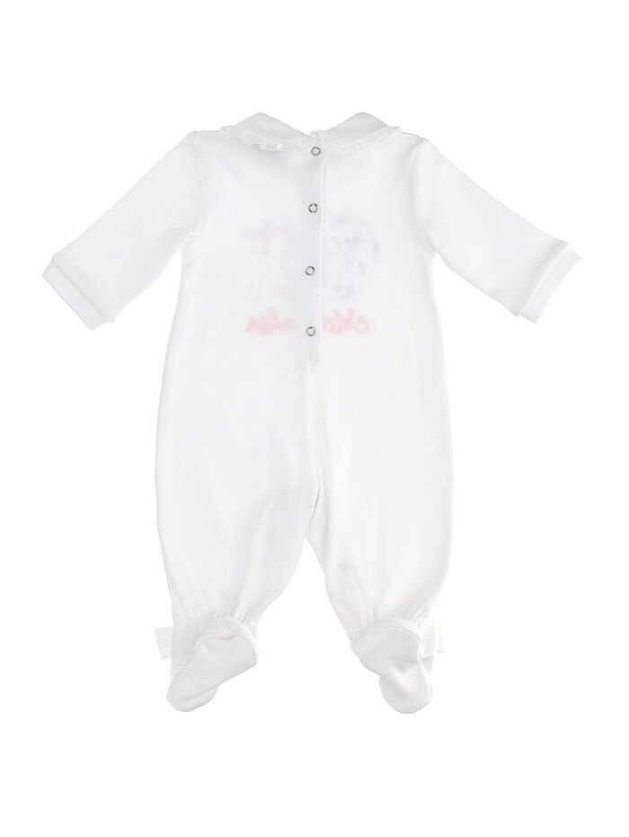 Newborn baby cotton onesie with little animals and bows