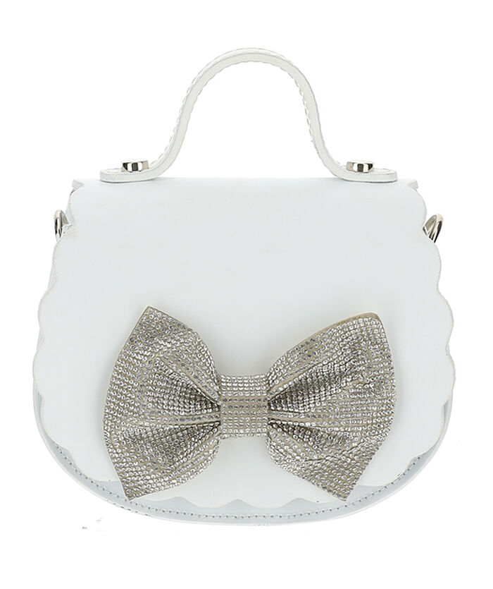 Rhinestones maxi bow bag
