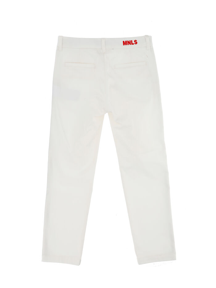 Chino pants with edging