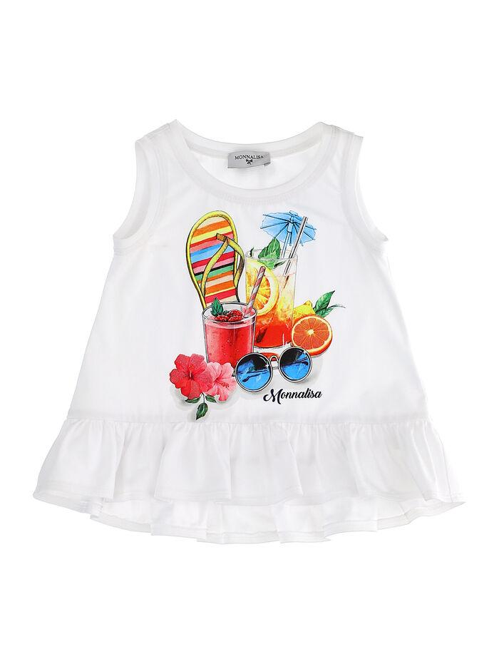 Vest with beach print