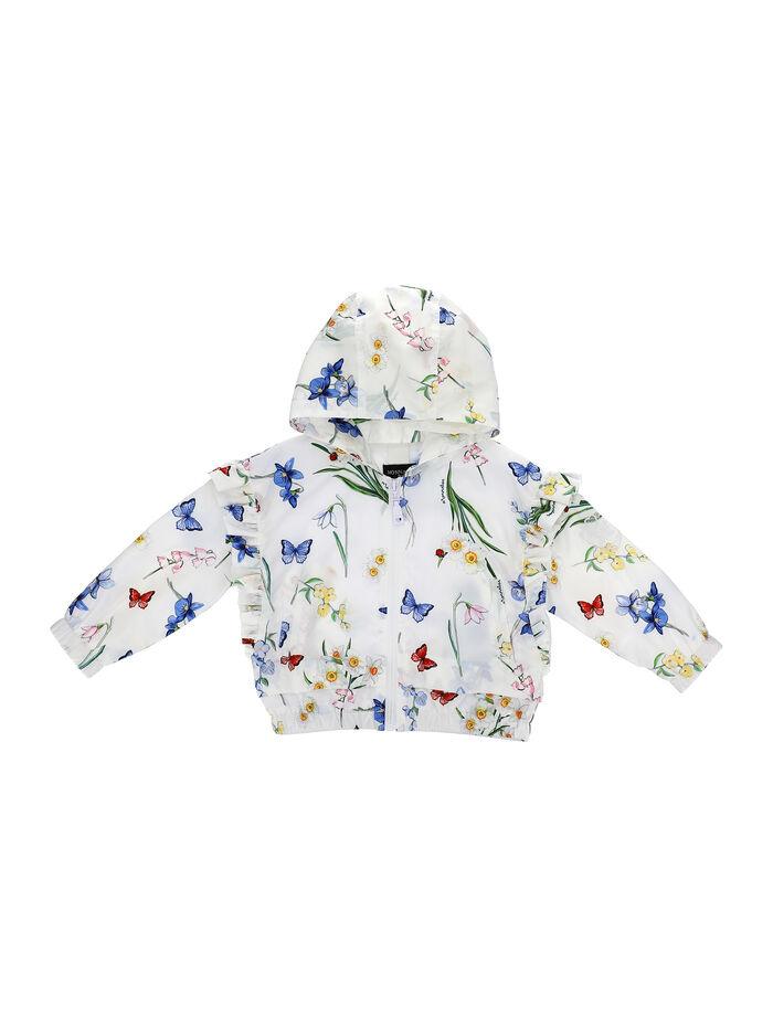 Nylon jacket with botanical print