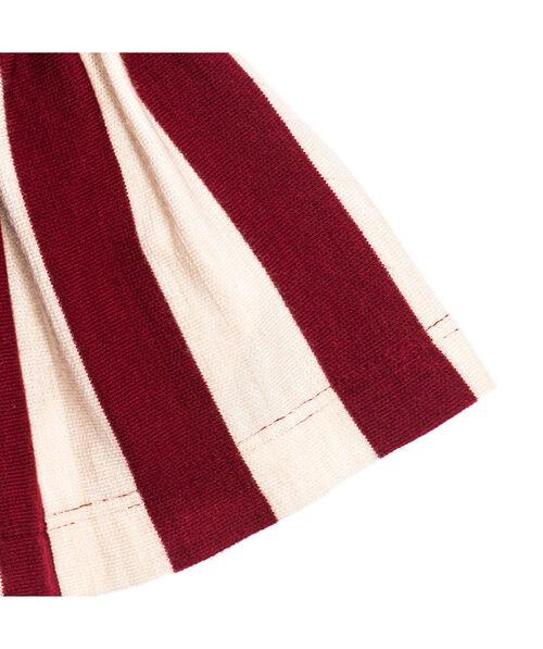 Платье из ткани пунто милано в полоску