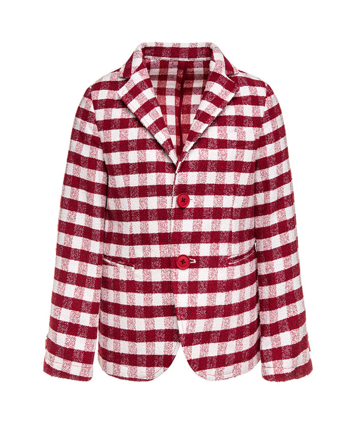 Checked spring jacket