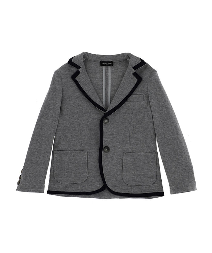 Poplin blazer with edging